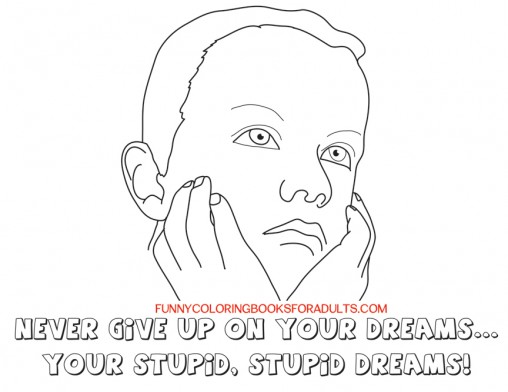 funny snarky quotes - don't give up on stupid dreams
