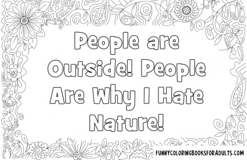 People Are Outside! People Are Why I Hate Nature!