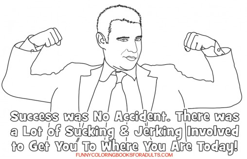 Funny Coloring Page - You Got to The Top Sucking and Jerking